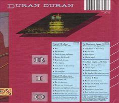 Malcolm Garrett (Assorted Images): Reverse LP cover for Duran Duran's 'Rio' #DuranDuran #Nagel #MalcolmGarrett
