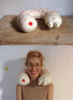 DIY Embroidered Travel Pillow | Handmade Charlotte