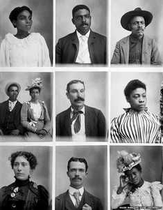 Nine portrait images taken by Hugh Mangum a photographer who defied the rules and took pictures of all people