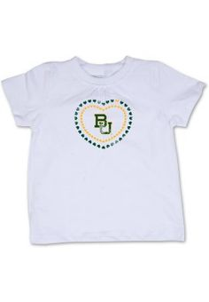 Love this for my little girl! // Cute #Baylor toddler girl short sleeve tee, $18 at Baylor Bookstore