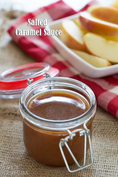 Salted Caramel Sauce -- great easy homemade food gift, pair with a basket of apples!
