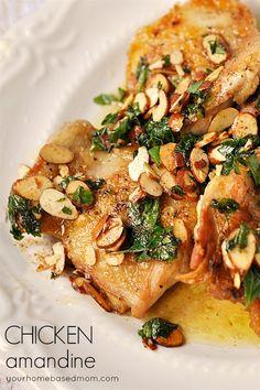 Chicken Amandine - dinner in under 15 minutes