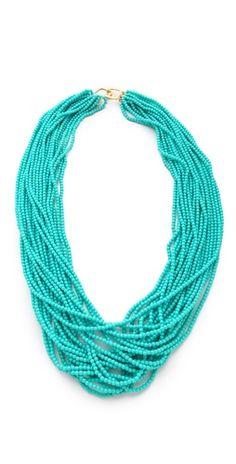 Kenneth Jay Lane turquoise necklace.