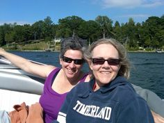 Ally and I cruising Lake Charlevoix