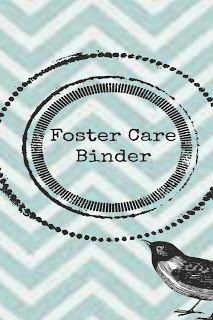 Foster care binder to keep youth's information organized