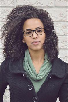 woman with glasses #CurlyHair #Biracial #MixedRace