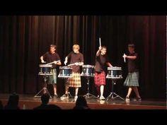 ▶ NEW Hot Scots drum line - 2012 - Nigel Fernandez - LHHS Talent Show - YouTube