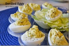 A perfect deviled egg, + secret to making eggs peal easier