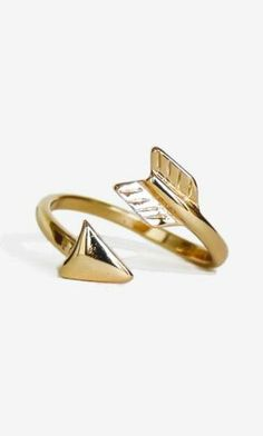 New! A Wrapped Arrow Ring you'll never want to take off $10