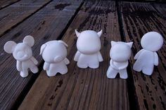 DIY toys. Model Magic Monsters. Inspired by Dunny and Colorblank toys. Allow 24 hours to dry before painting / decorating.