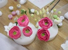 How to make Flowers:  Ranunculus and Gardenias