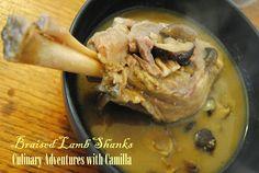 Coffee Braised Lamb Shanks