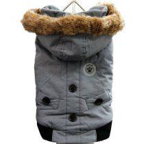 FouFou Dog Canada Fouse Dog Coat, Charcoal, Large