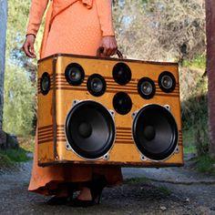 Vintage boombox suitcase:)