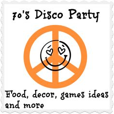 70′s disco Party ideas! From food, clothing, games and music!