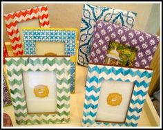 lots of different DIY picture frames