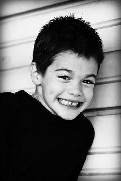 Boy Portrait  Black and White  Born to Smile