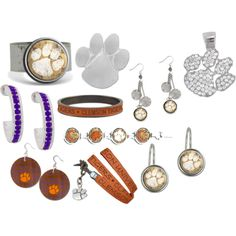 Clemson Clearance Jewelry, created by jewelrywarehouse on Polyvore