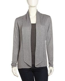 """Neiman Marcus Shawl-Collar Open Cardigan, Heather Gray worn by Olivia Pope in Scandal Episode 312 """"We Do Not Touch the First Ladies"""""""