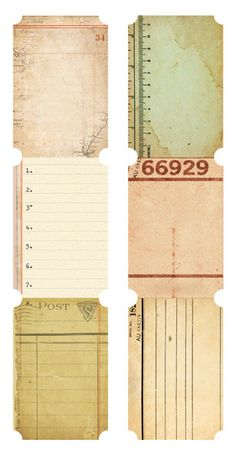 Kaisercraft - Journal Tags - Tickets