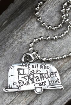 NOT ALL WHO WANDER are Lost PENDANT - Junk GYpSy co. So buying......