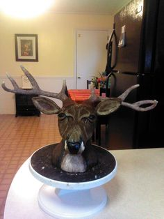 Birthday Cake Photos - My deer head.  Made with RKT and modeling chocolate.