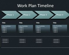 Workplan Timeline PowerPoint Template is a free timeline template for workplan and business projects