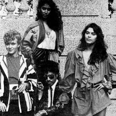 Vanity 6 - from left, Brenda, Susan & Vanity...Morris Day in the middle