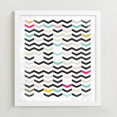 This Dirty Chevron print, by Matthew Taylor Wilson, comes to us from our collaboration with Minted, a community of independent designers and artists.
