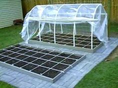 How to build hoop house square foot garden