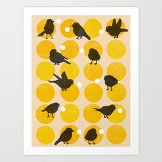 Birdsong+Yellow+Art+Print+by+Garima+Dhawan+-+$18.00