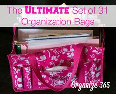 The Ultimate Set of 31 Organization Bags - These are my top 31 organization bags that I use ALL the time.  Most I have multiples of!   Organize 365