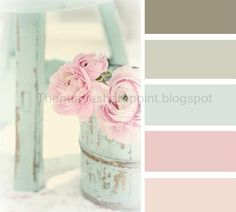 Loving the pastels. I'm leaning towards these beautiful mint greens, peaches, pinks and whites for my entire house when I repaint. My house is so small I'm thinking the lighter colors will really brighten and cheer it up and bring it to life