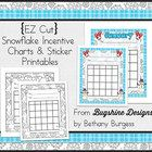 Incentive Chart & Sticker Printables {Snowflakes & January} Freebie  Do you use incentive charts to motivate students or keep records in yo...
