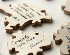 Custom Wedding Puzzle. A fun guest book alternative. Guests sign it, you play with it! By Bella Puzzles., I saw this product on TV and have already lost 24 pounds! http://weightpage222.com