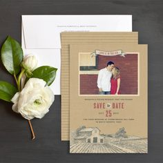 Country Farm Save The Date Cards By Jennie Hake | Elli