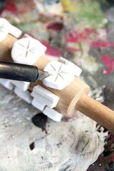 Allisa Burke's DIY for hand carved rolling pin stamps
