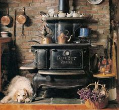 Old fashioned cookstove