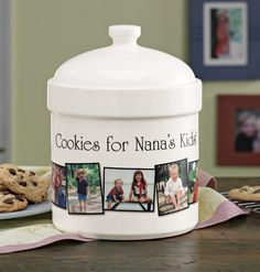 Personalized Photo Cookie Jar - Zoom