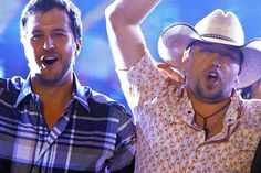 Luke Bryan, Jason Aldean, and v-neck shirts!!