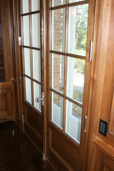 cremone bolts installed on french doors by Wilmette Hardware