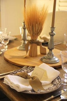 Wheat centerpieces
