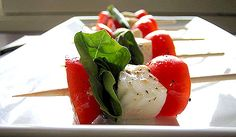Caprese Skewers- can't get enough