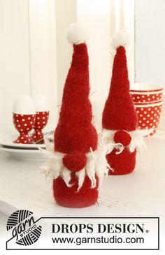 christma crochet, pattern, knit sock, drop design, knit felt