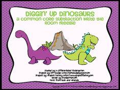 Dino subtraction freebie!