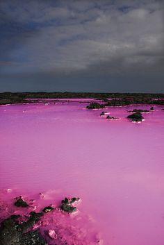 Lake Retba or Lac Rose, north of Senegal.