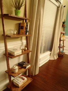 How to build your own ladder shelf.