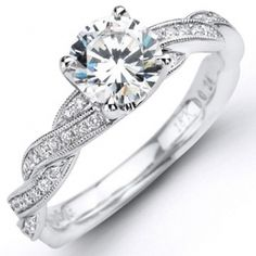IN LOVE!!!! Pave Diamond Twist Engagement Ring   This is basically what i want :)