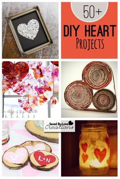 Over 50 Heart Crafts you can make; Including DIY jewelry, home decor and more #ValentinesDaycrafts @savedbyloves