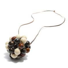 Bauble Clay Pendant #Necklace  Country of Origin: Swaziland
